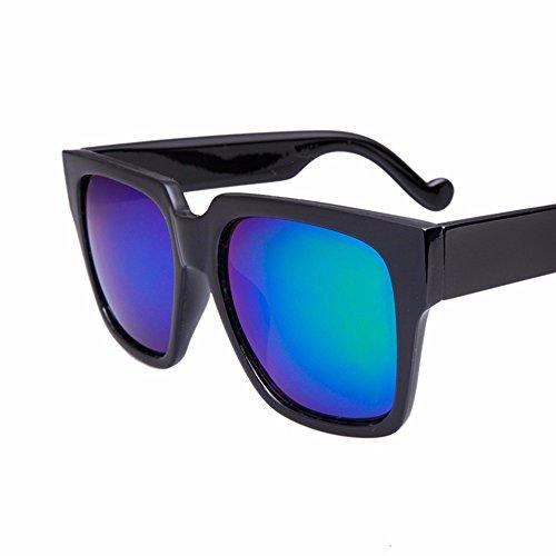 big gafas personalidad sol square box claro cara El retro box de negro azul de sol big redonda XIAOGEGE Gafas qw7CIxtp6