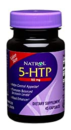 Natrol 5-HTP 50mg, 45 Capsules (Pack of 2)