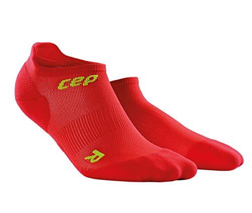 CEP Men's No Show Compression Ultralight Run Sock (Red/Green) IV