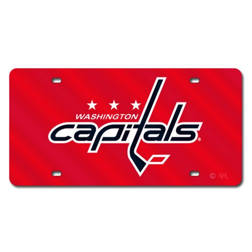 NHL Washington Capitals Laser Cut License Plate, Red