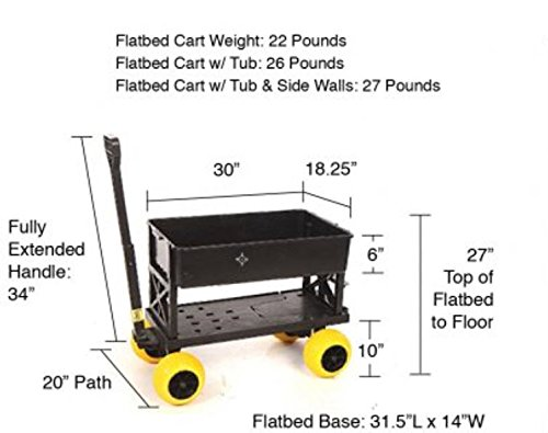 Mighty Max Plus One Multipurpose Garden Fishing Sports Equipment Cart by Mighty Max Cart (Image #6)