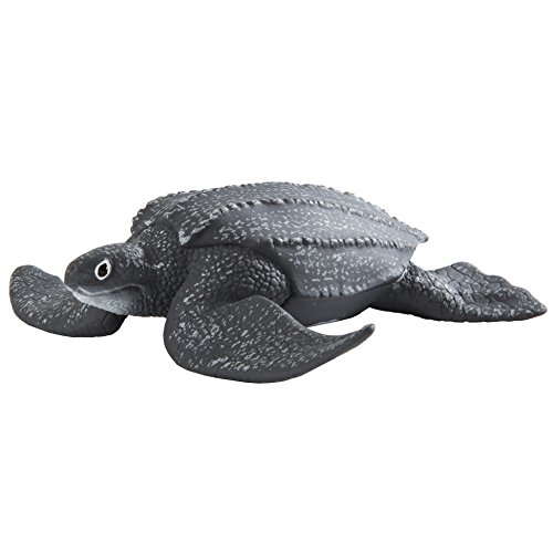 Safari Ltd. Leatherback Sea Turtle - Realistic Hand Painted Toy Figurine Model - Quality Construction from Phthalate, Lead and BPA Free Materials - For Ages 3 and Up