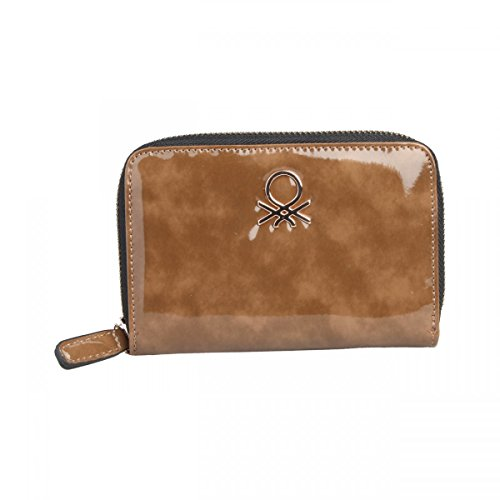 benetton-glossy-lacquered-designer-wallet-credit-cards-coin-holder-brown-italy