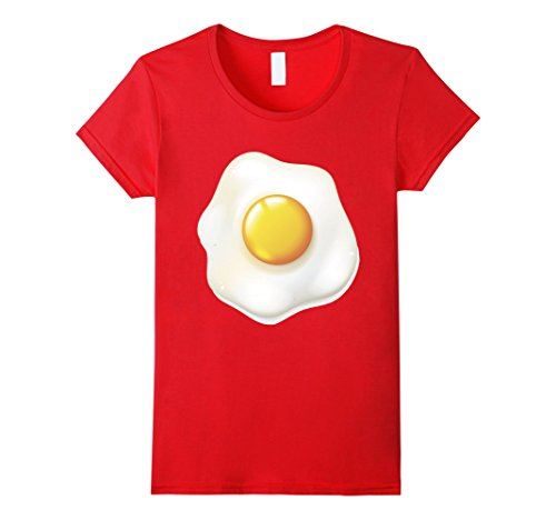 Womens Egg Costume T-Shirt Funny Halloween Egg TShirt XL Red - Deviled Egg Adult Costumes