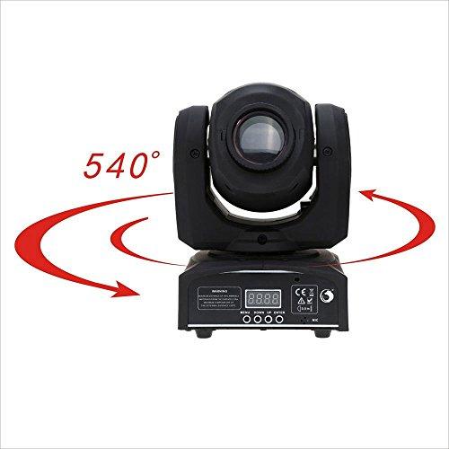 Hot 30W LED Moving Head Gobe Light Pattern DMX-512 DJ Xmas Stage Lighting 9/11CH