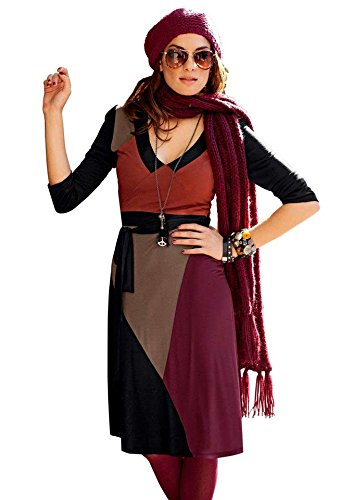 Aniston Kleid schwarz bunt Gr uYmxqJk