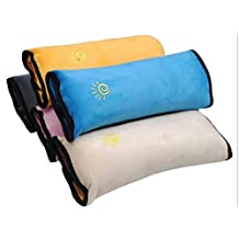Kabalo Kids Child Car Safety Seat Belt Shoulder Strap Pad Pillow (white)