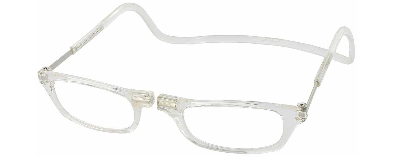 clic magnetic reading glasses in clear 2 50 health