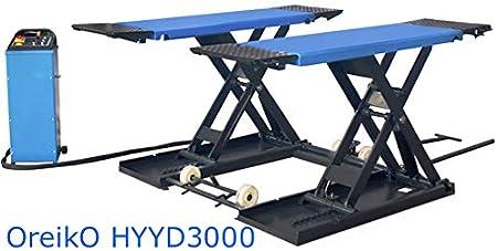 OreikO HYCD3000M-EL Elevador de tijeras para trabajos de ruedas móvil 3.0 t