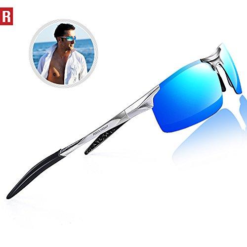 b553e58a07f ROCKNIGHT Driving Polarized Sunglasses For Men UV Protection Ultra  Lightweight Al Mg Golf Fishing Sports Sunglasses