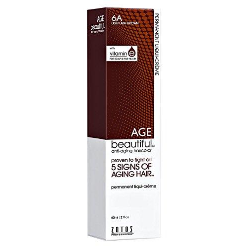 6A Light Ash Brown Permanent Liqui Creme Hair Color
