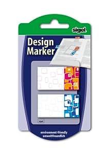 Sigel Retro - Marcadores para libro adhesivos reutilizables (45 x 25 mm)