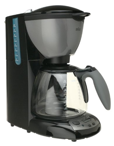 Braun KF580-BK AromaDeluxe 10-Cup TimeControl Coffeemaker