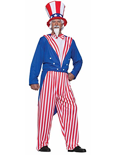 Adult Plus Size Uncle Sam Costume White