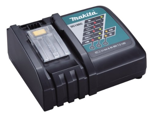 Makita DC18RC / DC18RA Rapid Battery Charger for Li-Ion Batteries With BONUS MAKITA LXT CASE by Makita
