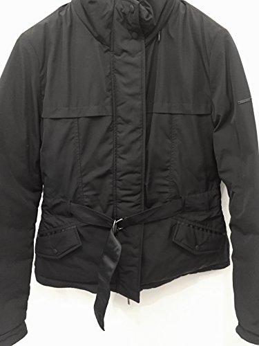 Down Jacket Armani Jeans-Piumino Reversibile Impermeabile con Cappuccio Blu Notte Tg.40