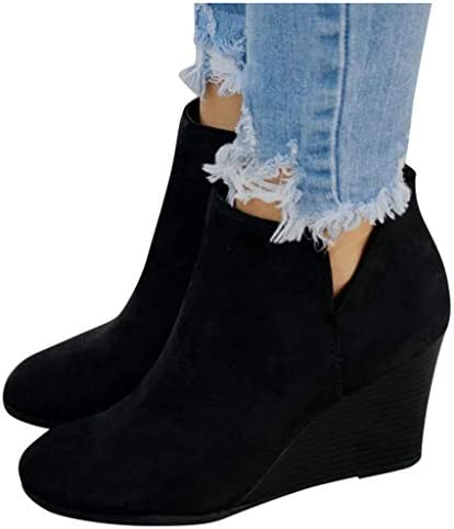 Womens Booties Leather Closure Stacked product image