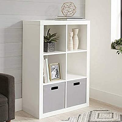 """Better Homes and Gardens.. Bookshelf Square Storage Cabinet 4-Cube Organizer (Weathered) (White, 4-Cube) (White, 6-Cube) - Nuber of Shelves: 6; Assembled Dimensions: 30.91""""L X 15.35 W X 44.21""""H; Weight Capacity: Top Panel Max Load 100 lbs, Individual Shelves Max Loads 30 lbs; Finishes: Multiple Finishes available; Assembly: Easy Assembly, Hardware Included; - living-room-furniture, living-room, bookcases-bookshelves - 41W4OLqQHzL. SS400  -"""