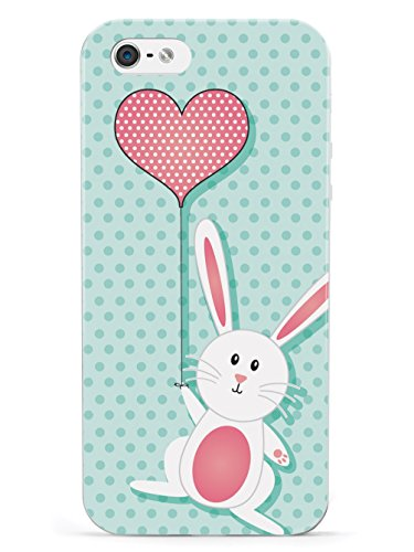 Inspired Cases Adorable Bunny with Heart Balloon Case for iPhone 5c
