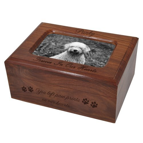 Custom Wooden Personalized Memory Chest Pet Urn, Engraved