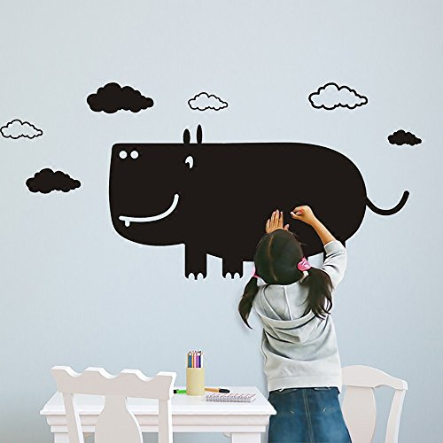 - XiYunHan 3D Wallpaper Teaching Training Blackboard Stickers self-Adhesive erasable Wall Stickers Children's Room Graffiti Wall Film Removable Wall Buy Two Get One Free (Pattern : Hippopotamus)