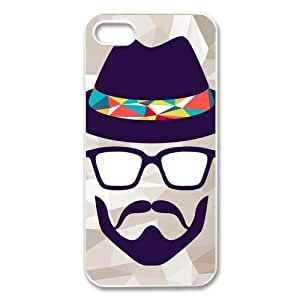 Customize Funny Mustache Unique Durable Back Cover Case for iPhone 5 5s BY RANDLE FRICK by heywan