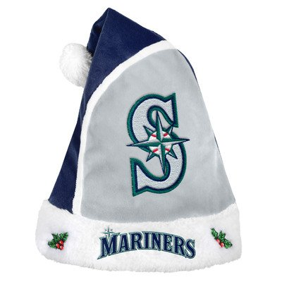 Forever Collectibles - MLB 2015 Santa Hat, Seattle Mariners