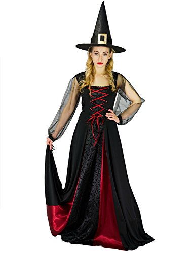 DSplay Women's Halloween Weird Witch Dress (XL) ()
