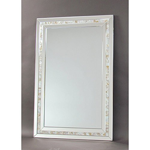Wayborn Mother of Pearl Beveled Accent - Bathroom Of Pearl Mirrors Mother