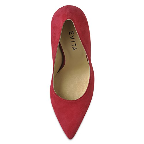 Evita Shoes Alina Damen Pumps Rauleder Pink
