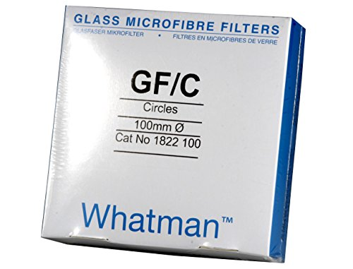 Whatman 1822-100 Glass Microfiber Binder Free Filter, 1.2 Micron, 6.7 s/100mL Flow Rate, Grade GF/C, 10.0cm Diameter (Pack of 100) by Whatman