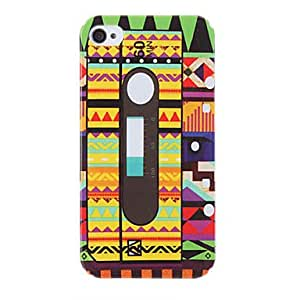 Colorful Tape Pattern Protective Hard Case for iPhone 4/4S