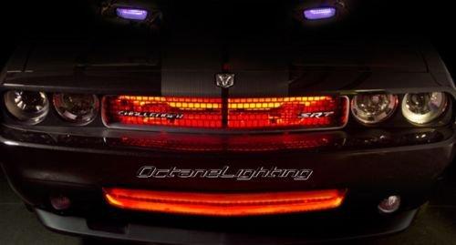 "OCTANE LIGHTING 4 12"" Red Car Truck Rv Grill Hood 15 Led Under Glow Waterproof Light Bulb Strips"