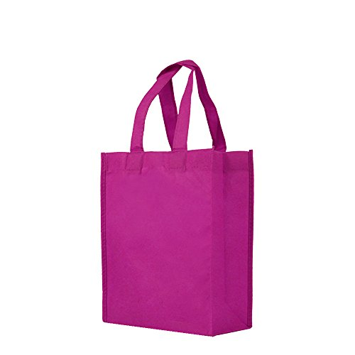 (Reusable Gift / Party / Lunch Tote Bags - 25 Pack - Fuchsia)