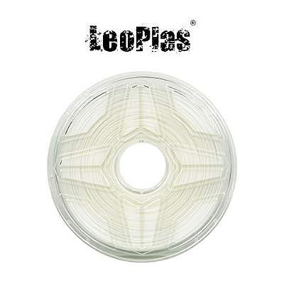 LeoPlas New Store USA Warehouse 1.75mm White Nylon PA Filament 2 Colors 1Kg 2.2 Pounds FDM 3D Printer Pen Supplies Plastic Printing Material Polyamide