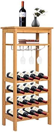 Kinbor Bamboo Wine Rack Storage