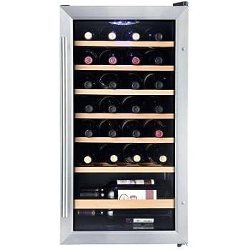 Vissani 17 inch 28-Bottle Wine Cooler in Stainless Steel