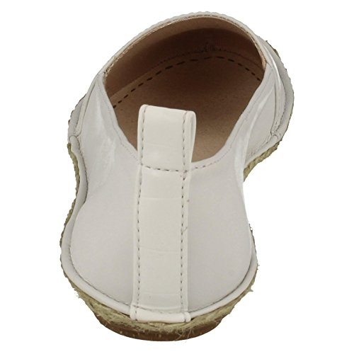 CLARKS Clarks Clovelly Sun White Leather