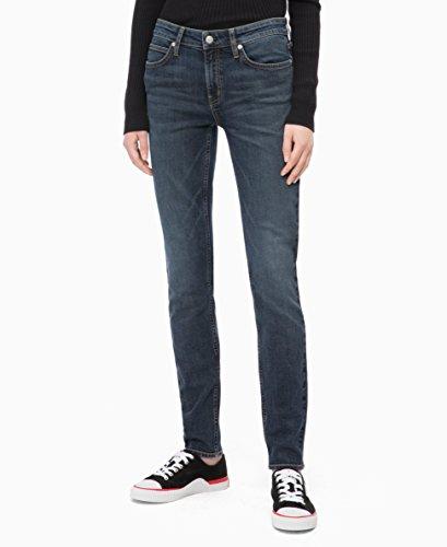 Calvin Klein Women's Mid Rise Skinny Fit Jeans, venice blue dark, 30W X 28L ()