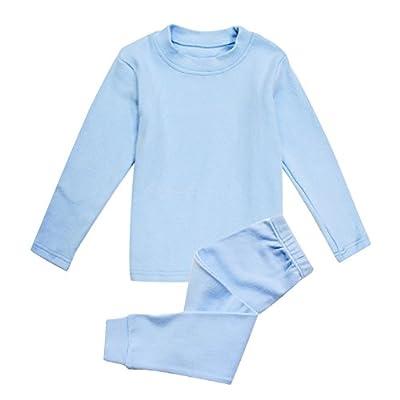 Enfants Chéris Little Girls Boys Thermal Underwear Long John Set Thermal Breathing Pajama Crewneck Top and Bottom 2PC Set