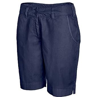 "Kariban womens Kariban Ladies Bermuda Shorts Navy Washed Navy L - Waist 27-29"" (68.5cm - 73.5cm)"