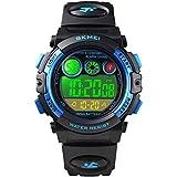 SKMEI 1451 カラーバックライト プラスチックの腕時計 防水 子供のスポーツ腕時計