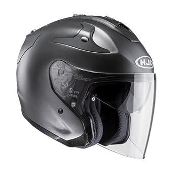 HJC casco Moto fg-jet Titanium, Negro/Blanco