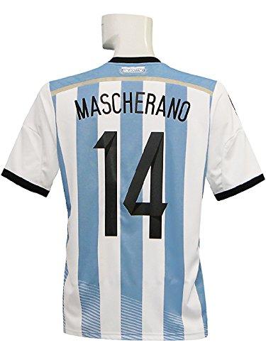 歩道アクセル非武装化(アディダス) adidas 14 15アルゼンチン代表 ホーム 半袖 マスチェラーノ 準決勝マッチデー+W杯バッジ付 AI216-G74569