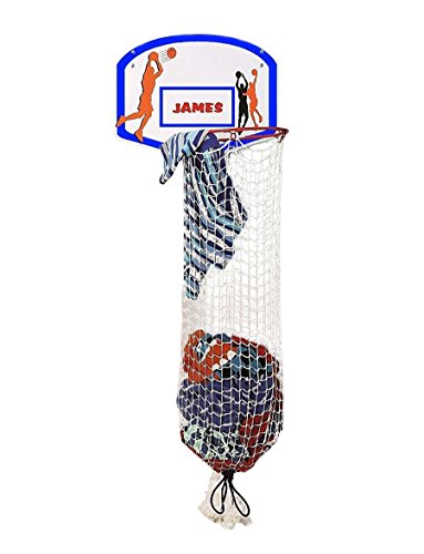 Etna Basketball Hoop Laundry/Clothes Hamper Game for Kids - Hooks Over The Door, Helps Make Dirty Clothes Fun, Can Be Personalized - Perfect For Boys and Girls Bedrooms - Shoot It, Dunk It, Wash It]()
