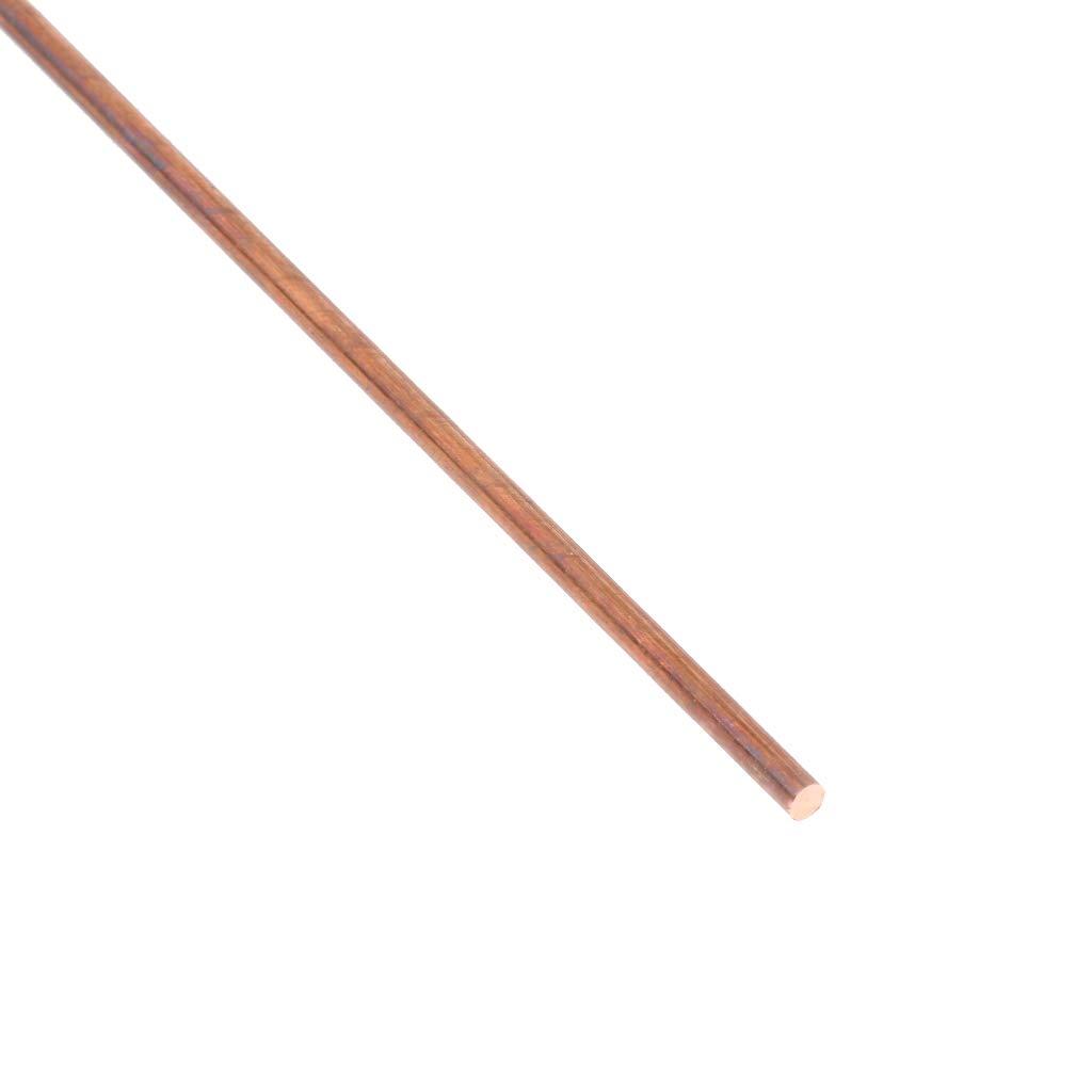 Kupfer Rundstab Reinen Durchmesser 4mm 50cm Solide Drehmaschine Bar Schneidwerkzeug Metall