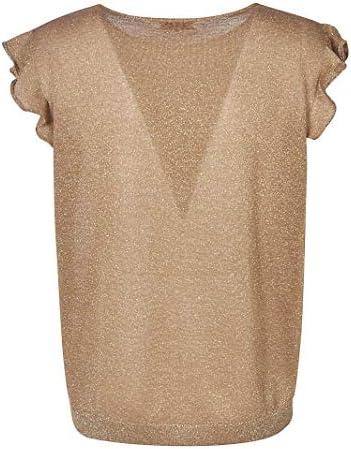 Dries van Noten Fashion Woman 112189700102 Gold Polyester Tank Top | Spring Summer 20