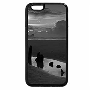 iPhone 6S Case, iPhone 6 Case (Black & White) - magical beach at sunset