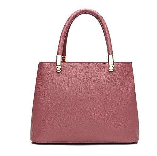 WomanBangalor Nuevo Spiraea PU Europa Y Los Estados Unidos Bolsos Moda Satchel Envíe El Colgante Bolso Pink