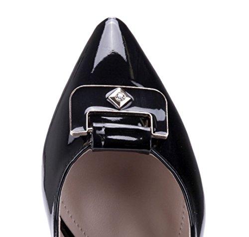 Schuhtempel24 Damen Schuhe Klassische Pumps Stiletto Ziersteine 6 cm Schwarz